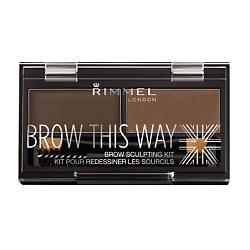 Купить RIMMEL Тени для бровей Brow This Way № 002 средне-коричневый