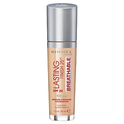 RIMMEL Тональный крем Lasting Finish Breathable № 100 Ivory rimmel тональный крем lasting finish breathable 103 true ivory