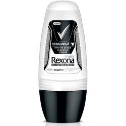 REXONA Роликовый антиперспирант для мужчин Невидимый на черном и белом 50 мл