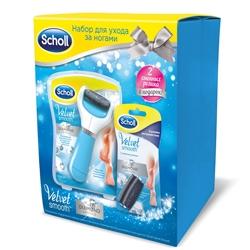 SCHOLL Набор с электрической роликовой пилкой Электрическая роликовая пилка + сменные ролики для пилки экстражесткие 2 шт.
