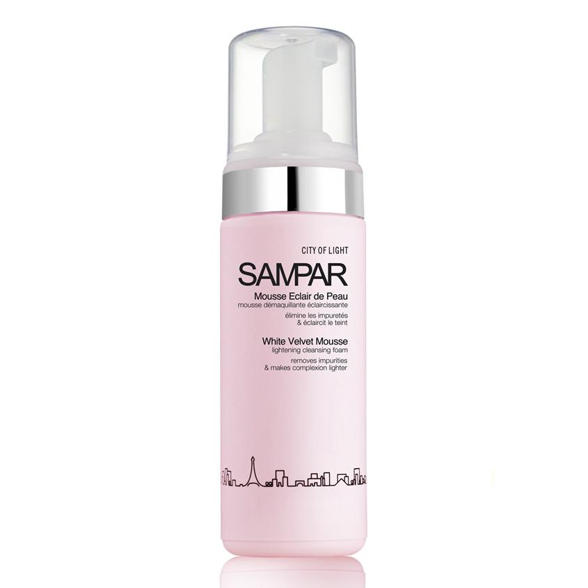 SAMPAR PARIS Мусс для лица для снятия макияжа осветляющий тон кожи