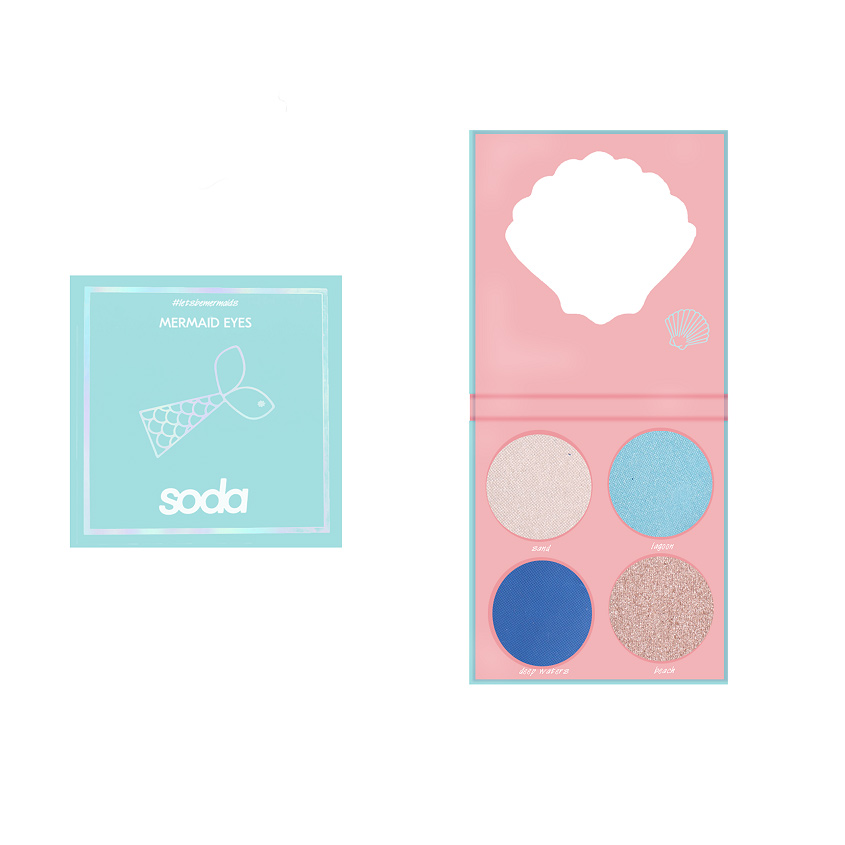 Купить SODA EYESHADOW PALETTE #letsbemermaids Тени для век MERMAID EYES