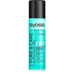 SYOSS Спрей-уход для волос, жирных у корней и сухих на кончиках Pure & Care 200 мл спрей тонирующий syoss root retoucher черный 120мл активатор цвета