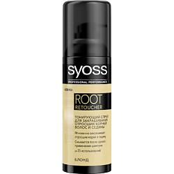 SYOSS Спрей для закрашивания седины ROOT RETOUCHER для оттенков блонд 120 мл syoss syoss спрей для закрашивания седины root retoucher для темно каштановых оттенков 120 мл