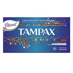 TAMPAX CEF Тампоны женские гигиенические с аппликатором Super Plus Duo 16 шт.