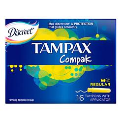 TAMPAX Compak Тампоны женские гигиенические с аппликатором Regular Duo 16 шт.