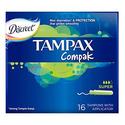 TAMPAX Compak Тампоны женские гигиенические с аппликатором Super Duo 16 шт. tampax cef тампоны женские гигиенические с аппликатором super duo 16 шт