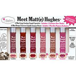 THE BALM Набор из 6 оттенков мини жидких матовых помад Meet Matt(e) Hughes 12 мл the balm палетка теней meet matt e nude 25 5 г