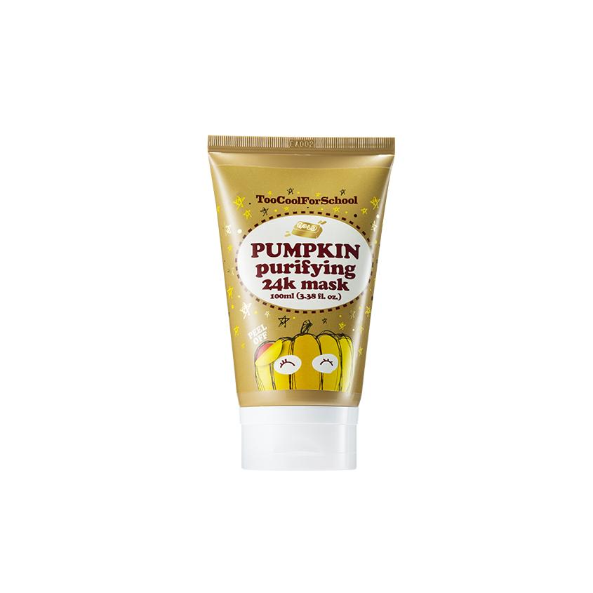 Купить TOO COOL FOR SCHOOL Маска для лица с тыквой и частичками коллоидного золота 24К очищающая