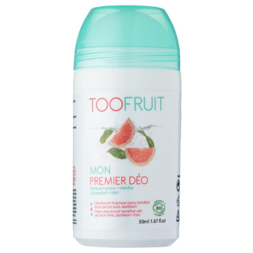 """TOOFRUIT Дезодорант роликовый детский для чувствительной кожи без спирта """"Грейпфрут-Мята"""""""