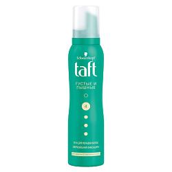 TAFT Пена для укладки Густые и Пышные, для тонких и ослабленных волос, сверхсильная фиксация 150 мл