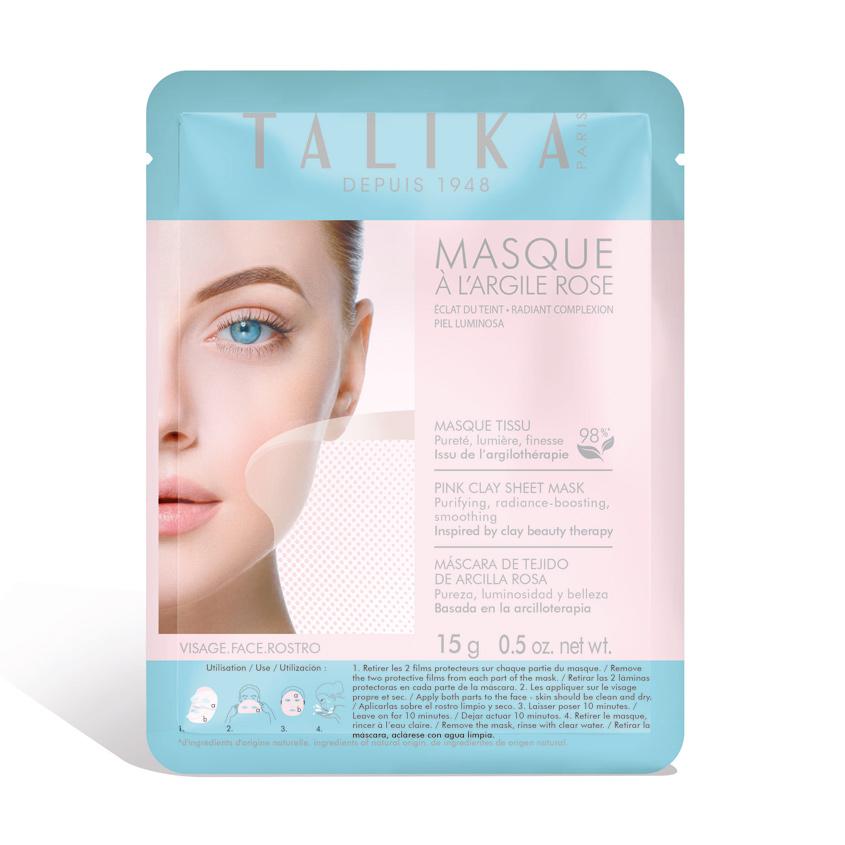 TALIKA Маска для лица тканевая с розовой глиной