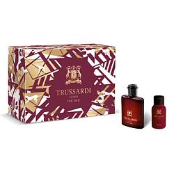 TRUSSARDI Подарочный набор Uomo The Red Туалетная вода 50мл + мыло для ухода за бородой