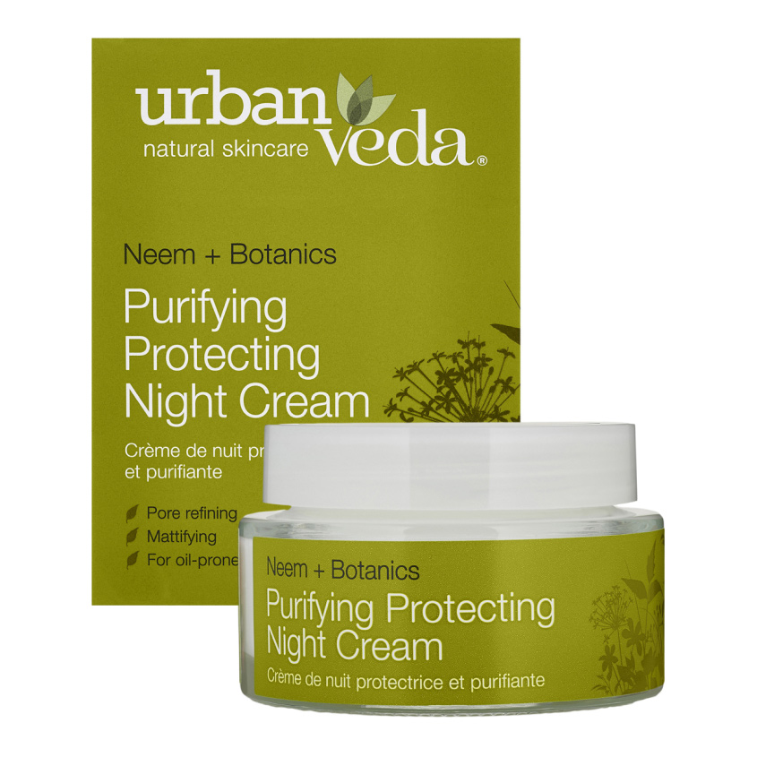 URBAN VEDA Крем для лица ночной защищающий и очищающий