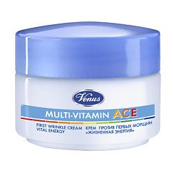 VENUS Крем против первых морщин «Жизненная энергия» с витаминами А, С, Е Multi-vitamin ACE 50 мл