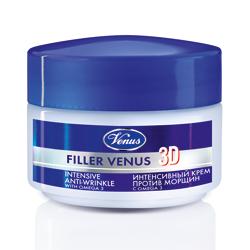 VENUS Интенсивный крем-филлер против морщин 3D с Омега 3 50 мл