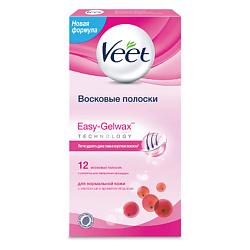 VEET Восковые полоски для депиляции для нормальной кожи 12 шт.