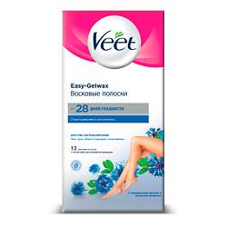 VEET Восковые полоски для депиляции для чувствительной кожи 12 шт.
