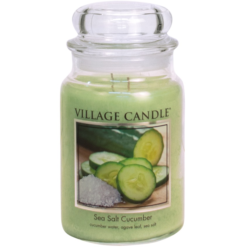 "VILLAGE CANDLE Ароматическая свеча ""Sea Salt Cucumber"""