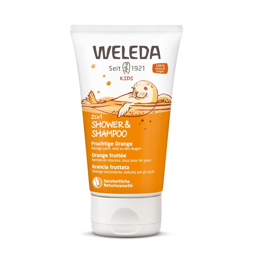 WELEDA Детский шампунь-гель для волос и тела «Апельсин».