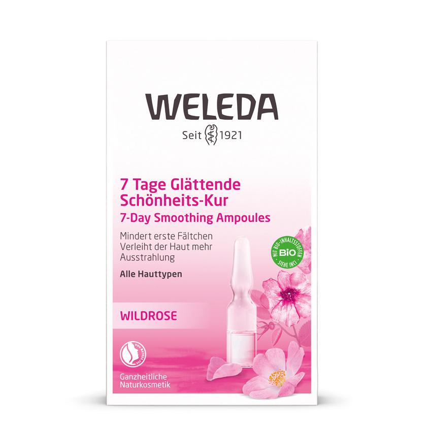 WELEDA Розовый разглаживающий концентрат.
