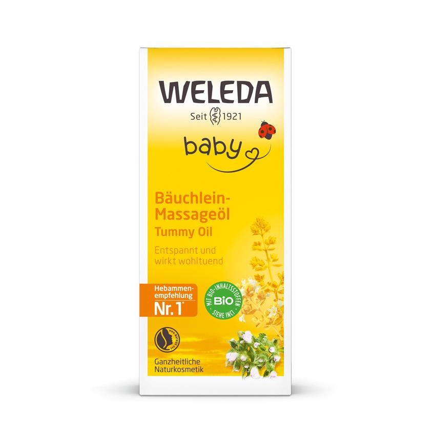 WELEDA Масло для массажа животика младенцев.
