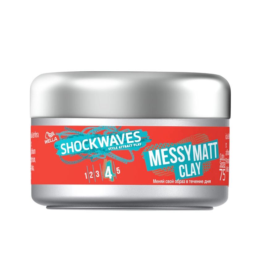 WELLA Моделирующая глина для волос Shockwaves