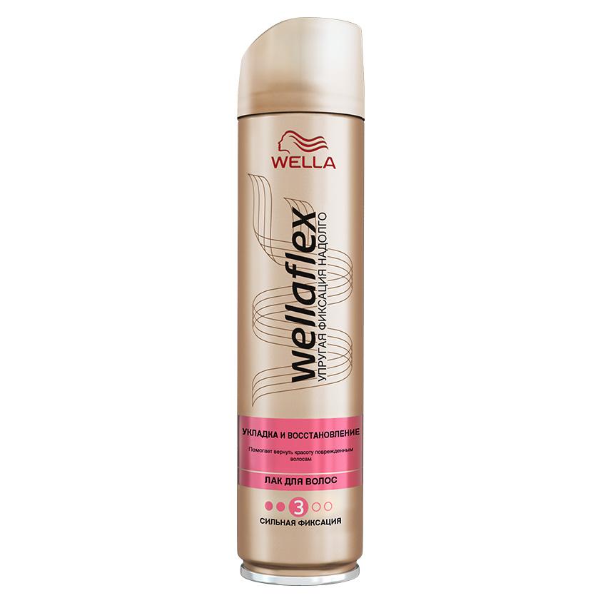 """WELLA Wellaflex Лак для волос """"Укладка и восстановление"""" сильной фиксации"""