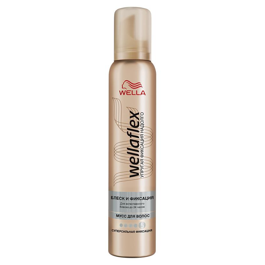 Купить WELLA Wellaflex Мусс для укладки волос Блеск и фиксация суперсильной фиксации
