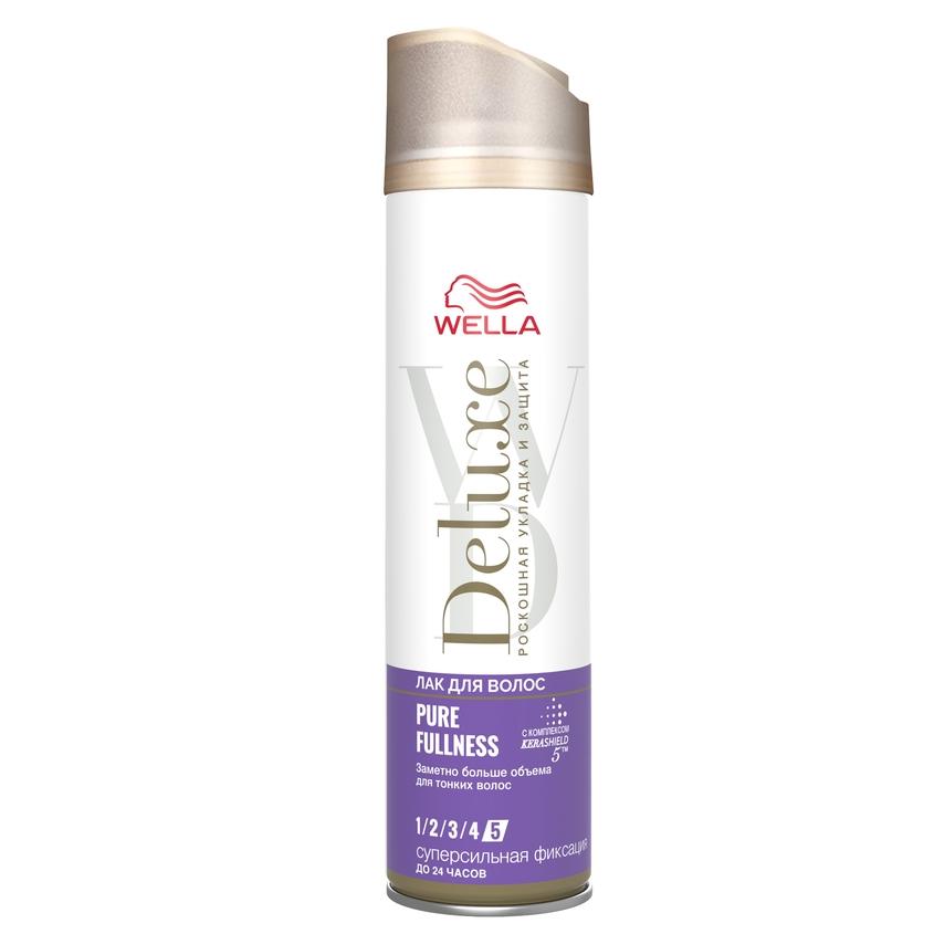WELLA Лак для волос Deluxe PURE FULLNESS суперсильная фиксация фото