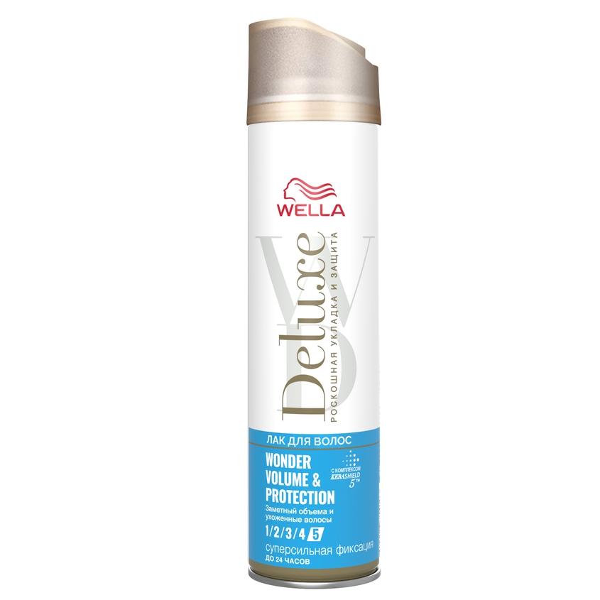WELLA Лак для волос Deluxe WONDER VOLUME & PROTECTION суперсильная фиксация