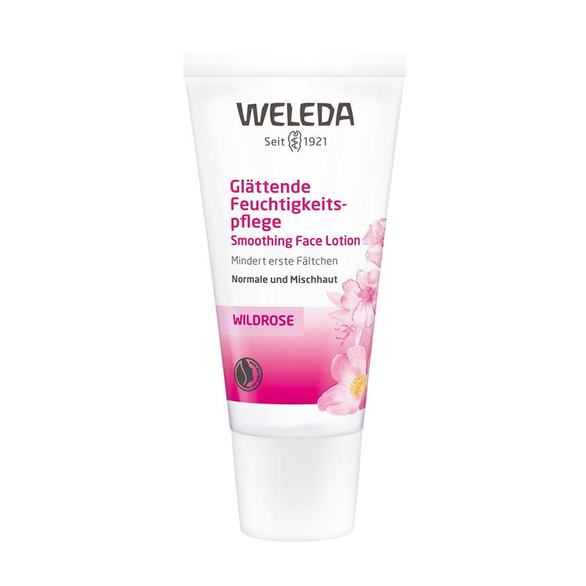 WELEDA Розовый разглаживающий крем крем-уход для лица.