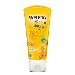 WELEDA Детский шампунь-гель с календулой для волос и тела 200 мл