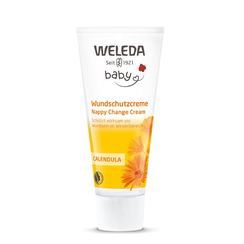 WELEDA Крем для младенцев с календулой для защиты кожи в области пеленания.